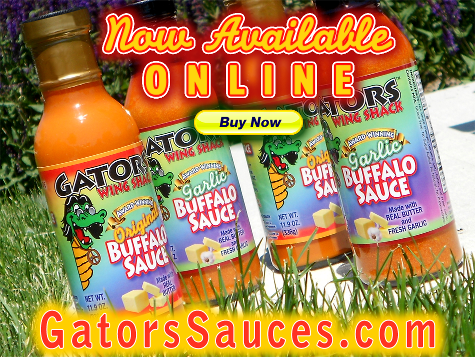 BUY AWARD-WINNING GATORS BUFFALO SAUCES NOW!!!
