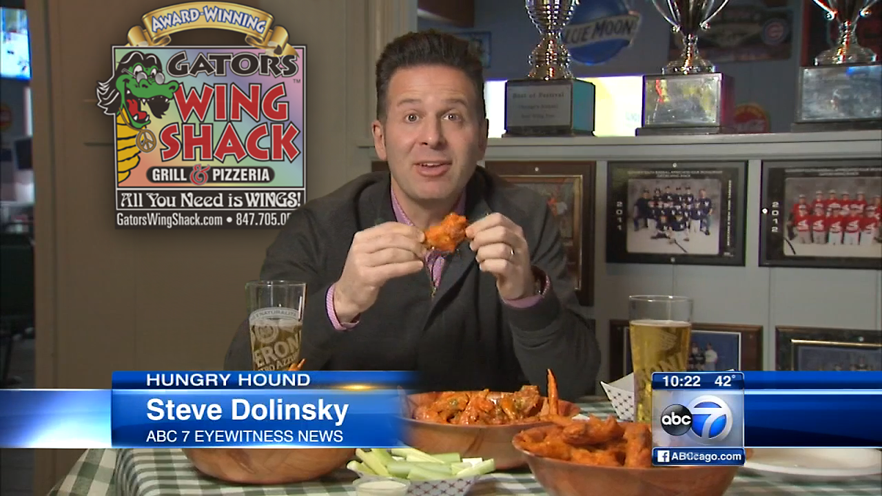 Gators Wing Shack featured in ABC 7 News Hungry Houns with Steve Dolinsky -- Best Buffalo Wings In Chicago